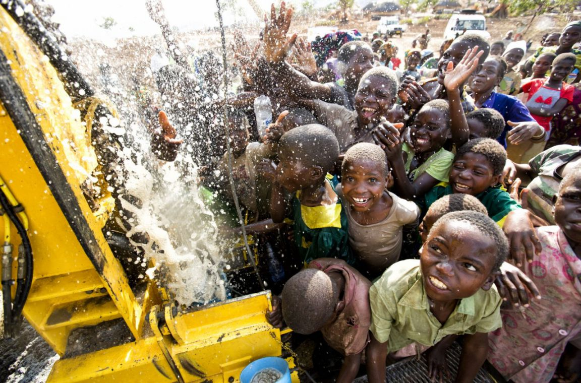 Providing water for charity